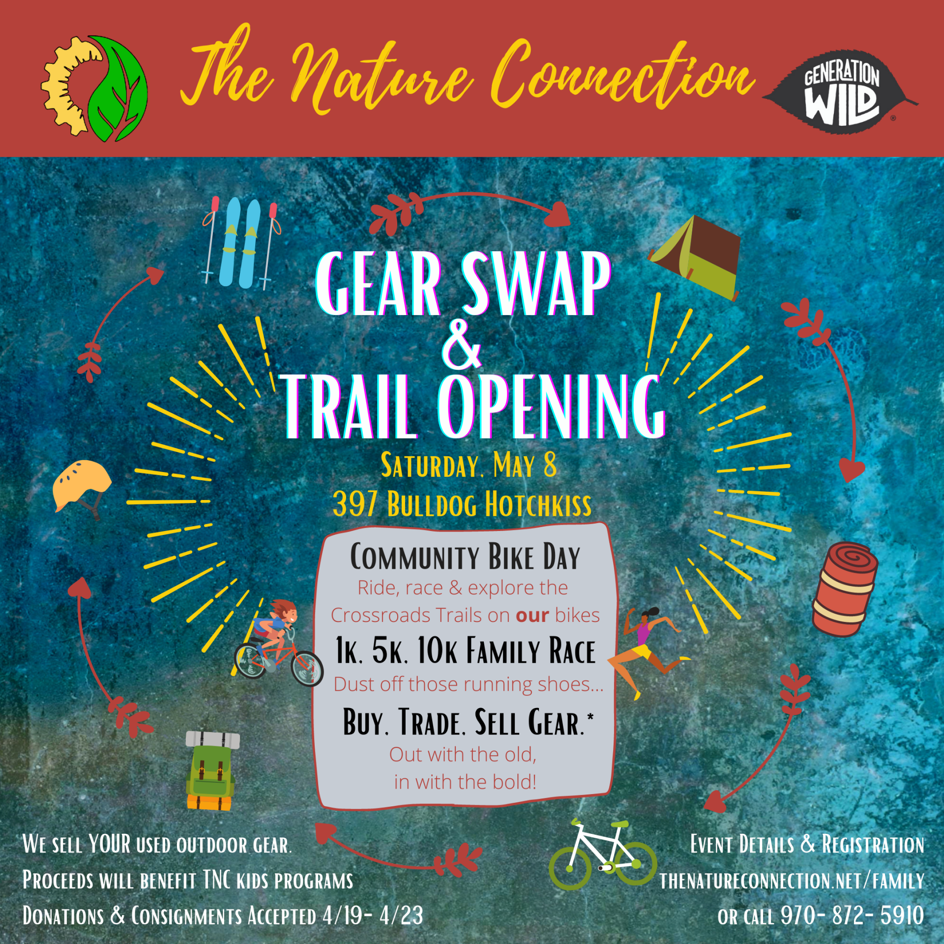 The Nature Connection Gear Swap & Spring Trail Opening
